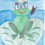 Царевна-лягушка на болоте