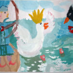 Гвидон спасает царевну Лебедь