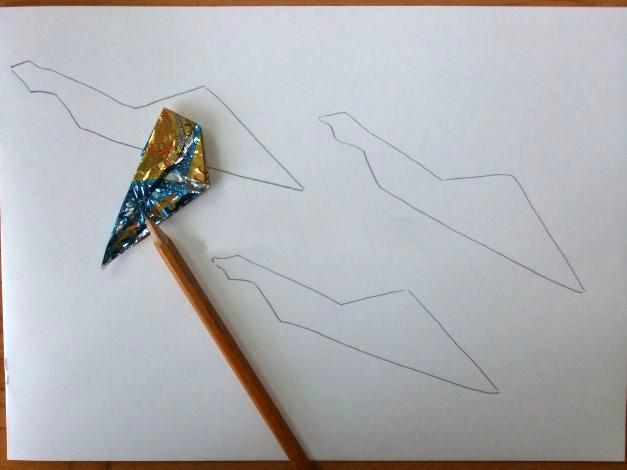 Прорисовка крыла