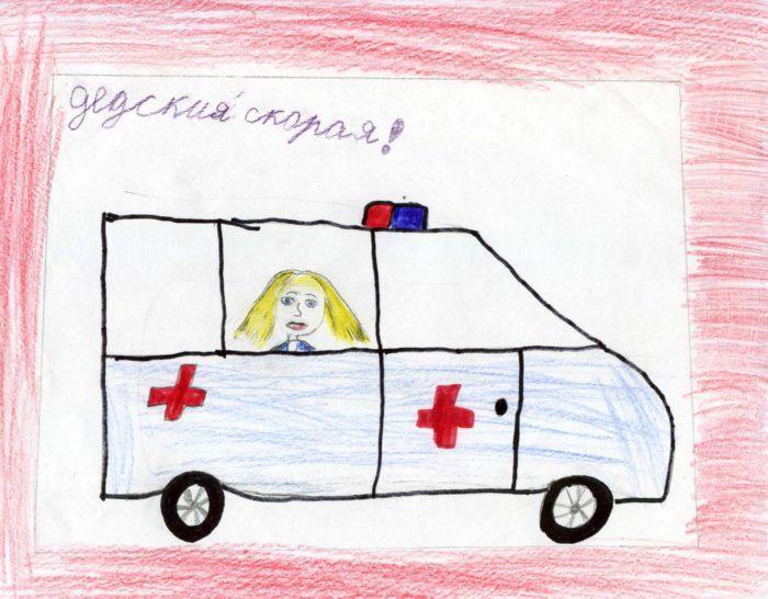 Машина скорой помощи спешит к больному