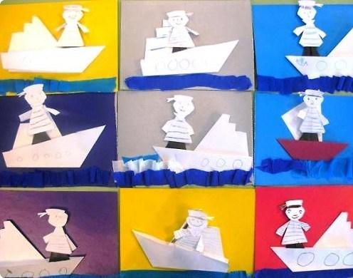 Моряк на лодке