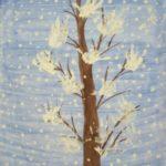 На деревья, на лужок тихо падает снежок!