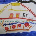 Нарядный пароход
