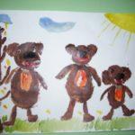Три медведя на прогулке