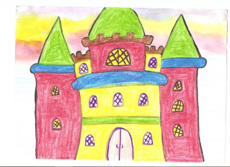 картинка по рисованию сказочный дворец применения фресок