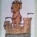 Одинокий замок-крепость