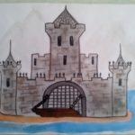 Замок-крепость в горах