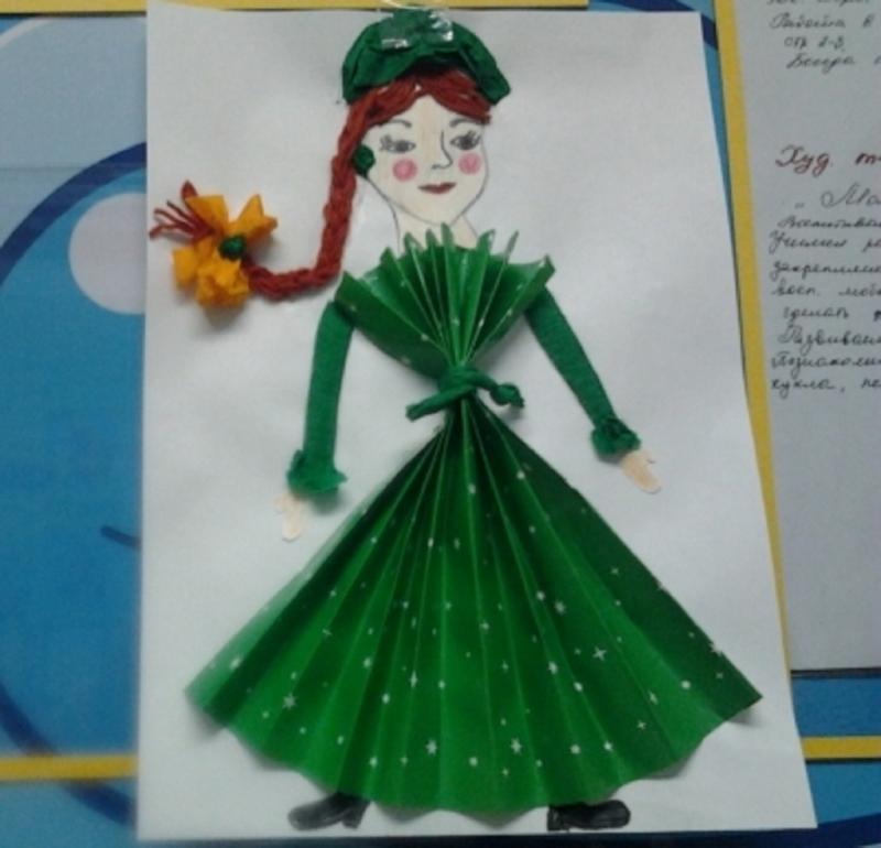 8ca17c12fdf Аппликация в старшей группе «Наша новая кукла»  особенности проведения  занятия