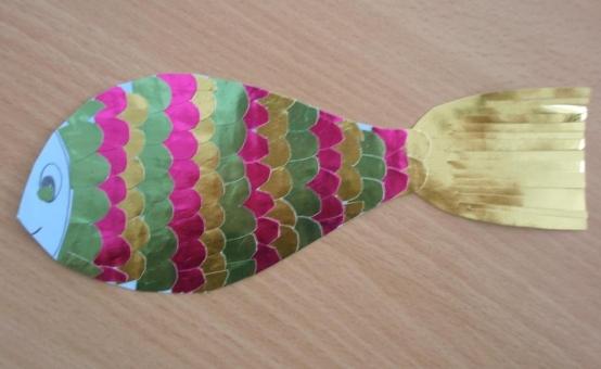 Блестящая рыбка