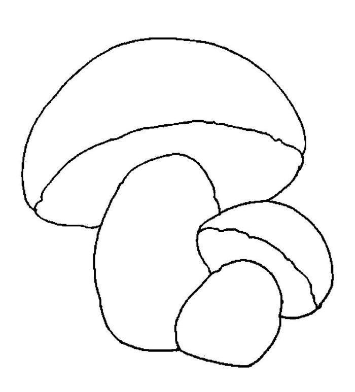 Аппликация грибы шаблон грибами