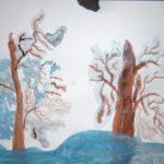 Деревья, покрытые инеем