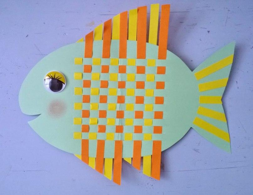 Поделка из бумаги рыбка
