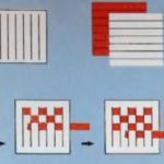 Инструкция по созданию квадрата в технике простого плетения