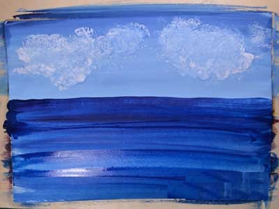 Изображение фона при создании морского пейзажа