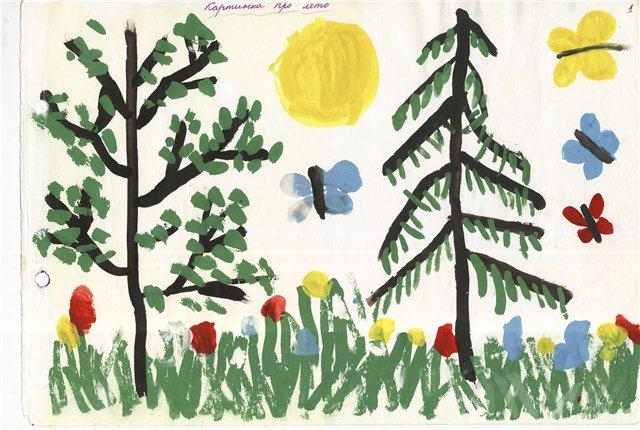 конспект занятия по рисованию в средней группе нарисуй картинку про лето дело крушении