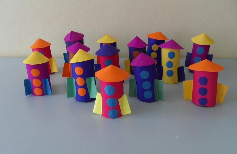 Конструирование из бумаги, ракеты