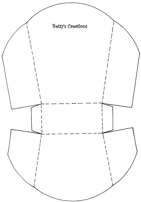 Корзинка из картона шаблон