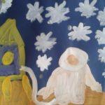Космонавт на фоне звездного неба