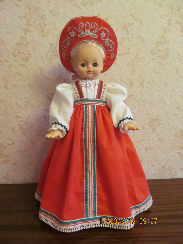 Как сделать куклу в национальных костюмах 35
