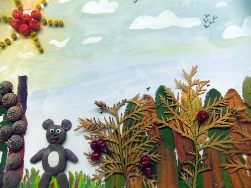 Мишка в лесу
