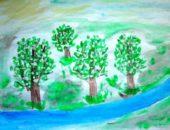 Рисование пейзажей - одно из ключевый направлений занятий рисованием в подготовительной группе