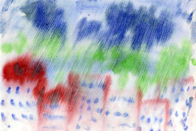 Рисование по мокрой бумаге