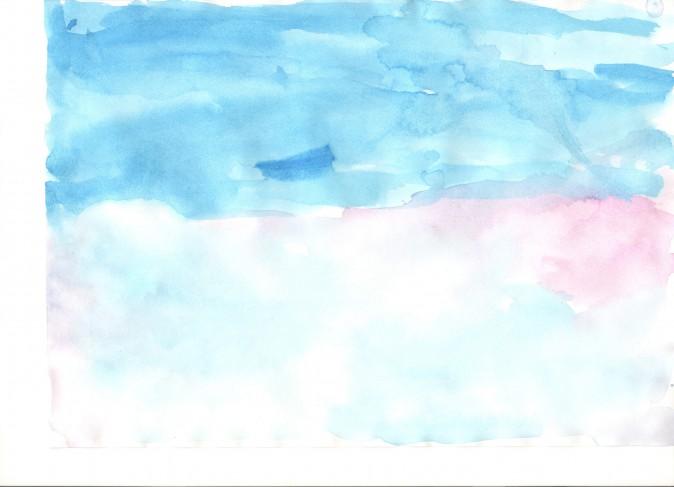 Рисунок с линией горизонта