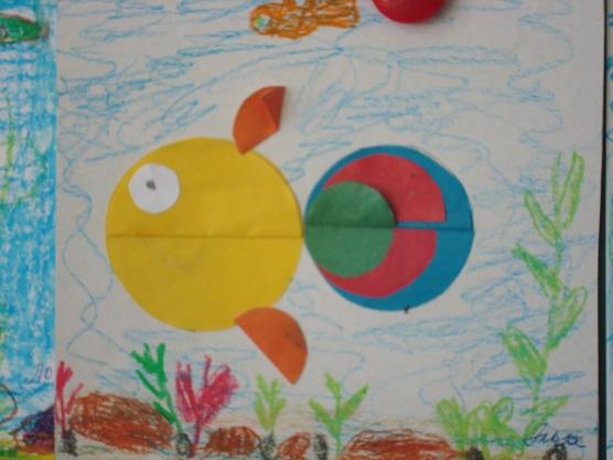Рыбка из полукругов