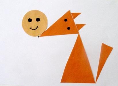 Рыжая лиса из треугольников