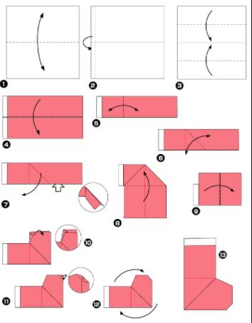 Заготовки маленькой детской летней обуви из бумаги