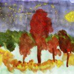 Таинственный осенний лес