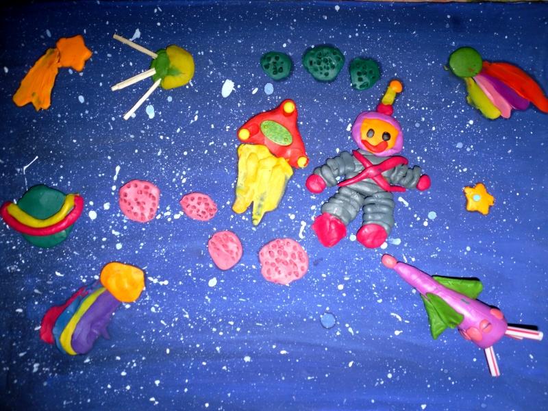 Космос пластилин картинка