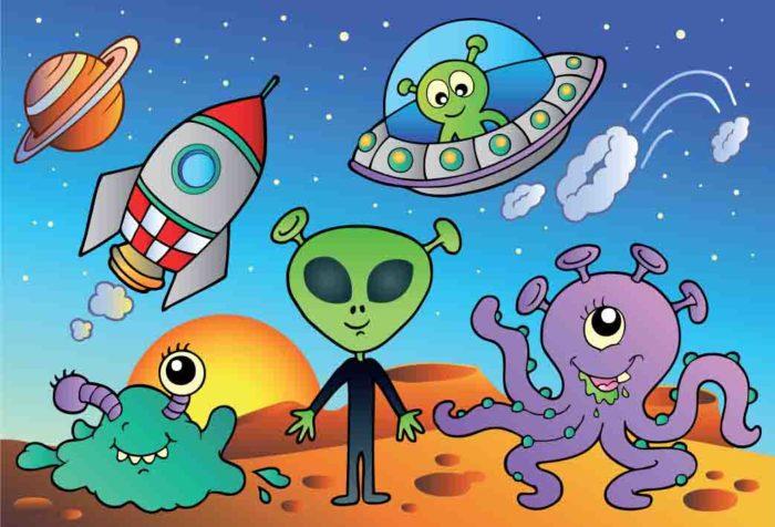 Варианты изображения пришельцев