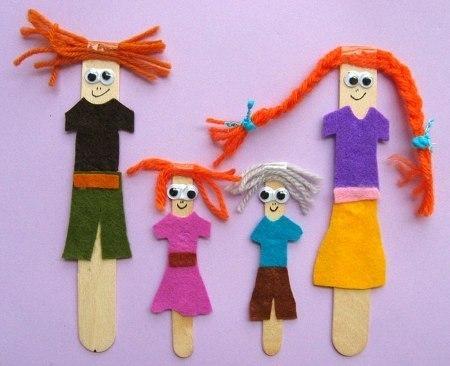 Куклы на палочках своими руками