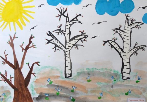 нарисуй картинку про весну средняя группа сутки после исчезновения