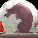Волк разговаривает с Красной Шапочкой