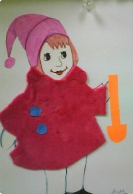 Девочка в красной шубке