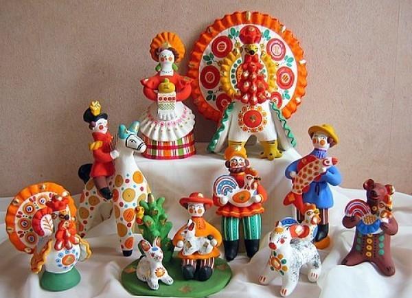 Дымковские игрушки, выставка