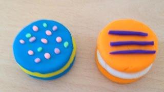 Голубое и оранжевое печенье с прослойкой