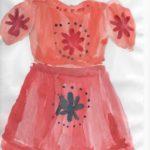 Платье с рукавом-фонариком