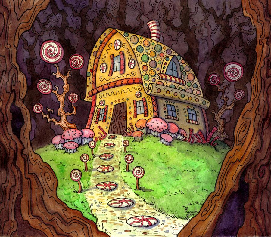 Пряничный домик фото из сказки