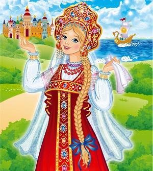 Русская красавица в сарафане
