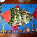 Рыбка из блестящей бумаги