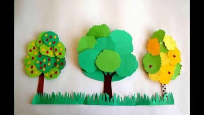 Силуэты деревьев, которые нужно заполнить деталями