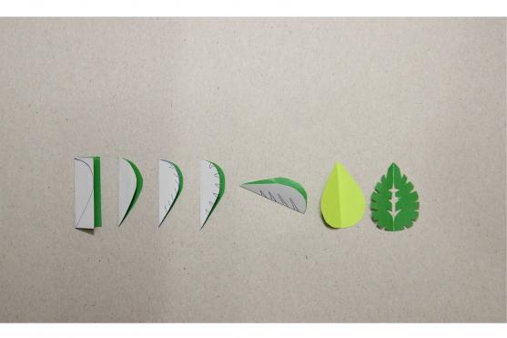 Заготовки в виде резных листьев