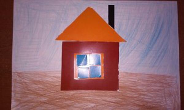 Заснеженный домик