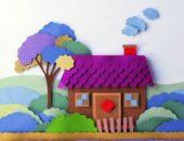 аппликация домик