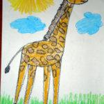 рисунок жирафик