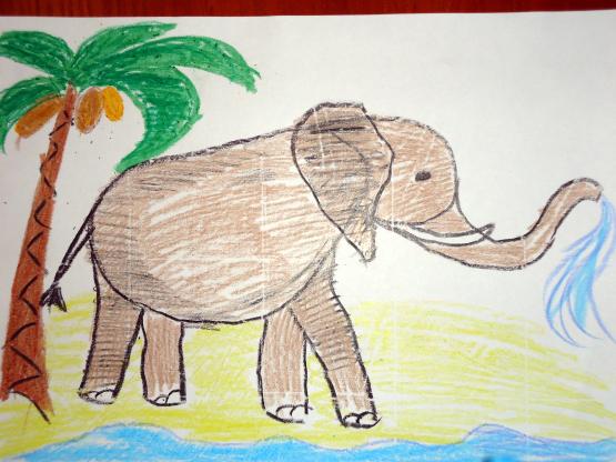 Рисунок на тему животные для детей