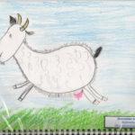 рисунок коза